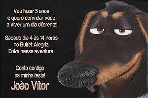 Convite digital personalizado Pets - A Vida Secreta dos Bichos 007