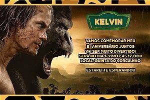 Convite digital personalizado Tarzan 007