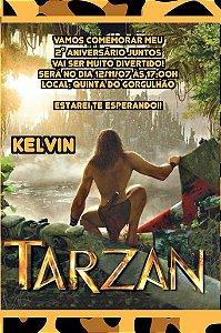 Convite digital personalizado Tarzan 008