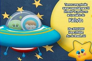 Convite digital personalizado Astronauta 004