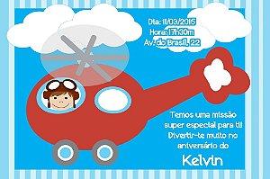 Convite digital personalizado Aviador 003
