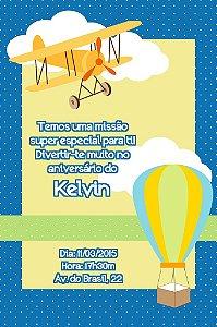 Convite digital personalizado Aviador 004