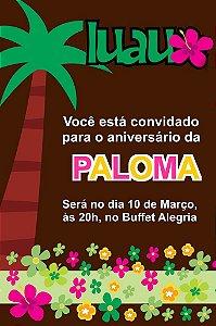 Convite digital personalizado Luau 011