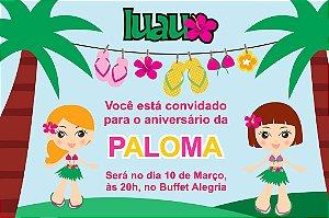 Convite digital personalizado Luau 012