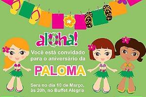 Convite digital personalizado Luau 013