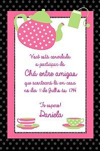 Convite digital personalizado Chá entre amigas 002