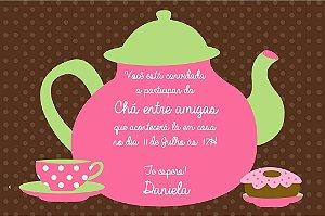 Convite digital personalizado Chá entre amigas 003