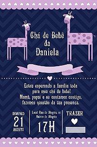Convite digital personalizado para Chá de Bebê 050