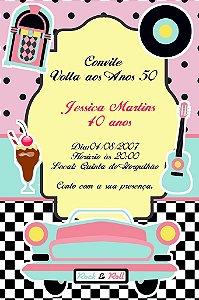 Convite digital personalizado Festa Anos 50 003