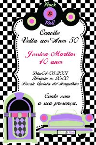 Convite digital personalizado Festa Anos 50 004