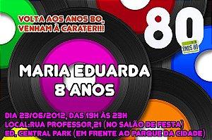 Convite digital personalizado Festa Anos 80 001