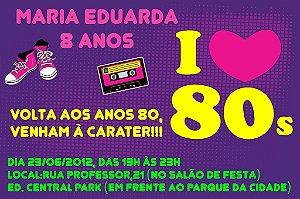 Convite digital personalizado Festa Anos 80 002
