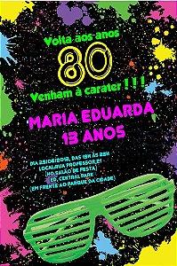 Convite digital personalizado Festa Anos 80 003