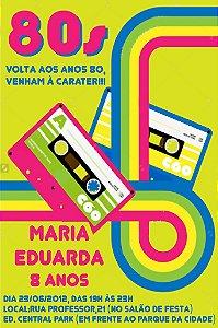 Convite digital personalizado Festa Anos 80 004