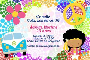 Convite digital personalizado Festa Anos 60 001