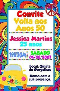 Convite digital personalizado Festa Anos 60 004