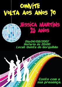 Convite digital personalizado Festa Anos 70 001