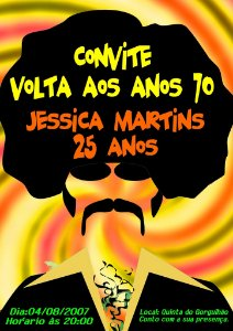Convite digital personalizado Festa Anos 70 002