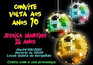 Convite digital personalizado Festa Anos 70 004