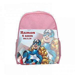 Arte para mochila personalizada Capitã America