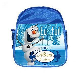 Arte para mochila personalizada Olaf Frozen
