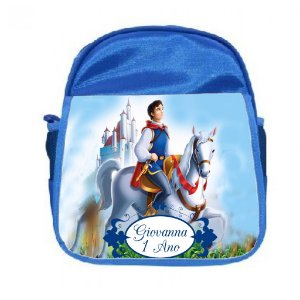 Arte para mochila personalizada Príncipe da Branca de Neve