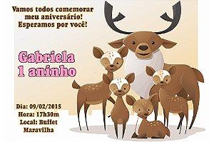 Convite digital personalizado Floresta 014