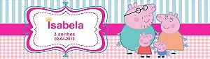 Arte para adesivo de baldinho Peppa Pig