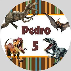 Adesivo redondo Dinossauros