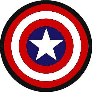 Adesivo redondo Capitão América