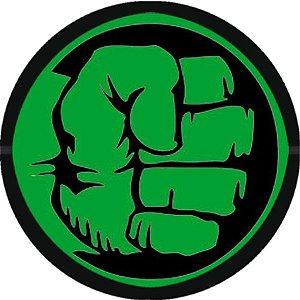 Adesivo redondo O Incrível Hulk