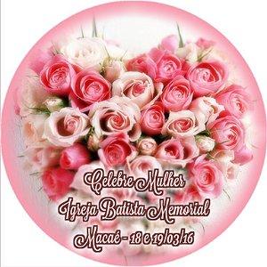 Adesivo redondo Rosas