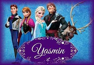 Arte para cartão de agradecimento Frozen