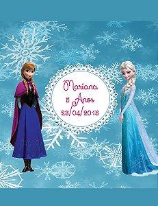 Arte para adesivo de copo personalizado Frozen 002