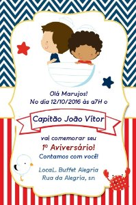 Convite digital personalizado Nautico 003