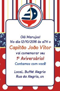 Convite digital personalizado Nautico 004