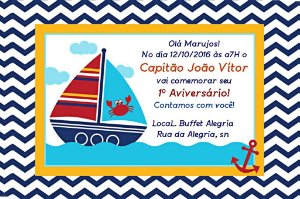 Convite digital personalizado Nautico 005