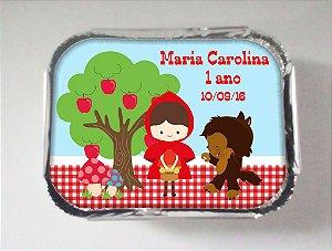 Arte para marmitinha personalizada Chapeuzinho Vermelho menina