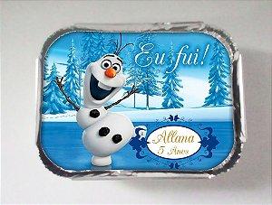Arte para marmitinha personalizada Olaf Frozen