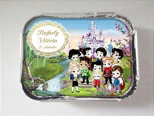 Arte para marmitinha personalizada Príncipes Disney Baby