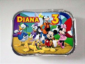 Arte para marmitinha personalizada A Casa do Mickey Mouse