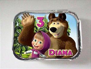 Arte para marmitinha personalizada Masha e o Urso