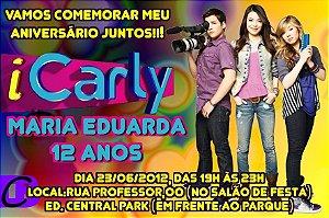 Convite digital personalizado iCarly 001