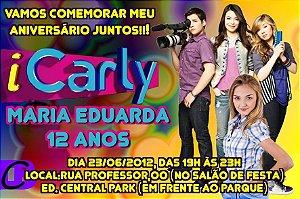 Convite digital personalizado iCarly 001 com foto