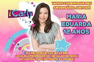 Convite digital personalizado iCarly 002