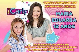 Convite digital personalizado iCarly 002 com foto