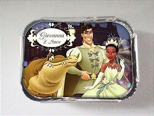 Tampa para marmitinha personalizada A Princesa e o Sapo