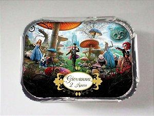Arte para marmitinha personalizada Alice no país das maravilhas filme