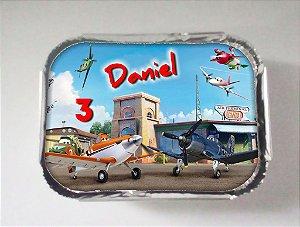 Tampa para marmitinha personalizada Aviões da Disney