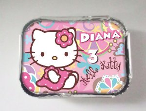 Tampa para marmitinha personalizada Hello Kitty